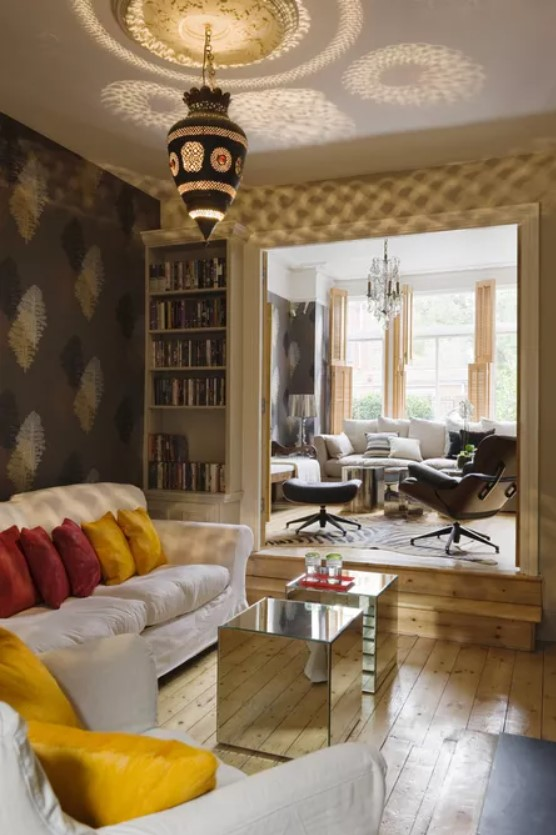 Moroccan lantern in a London living room