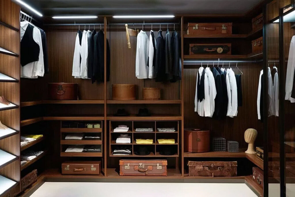 Business Professional Men's walk in closet: Modern Office Style Guide (2021)