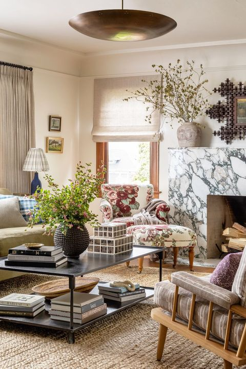 contemporary eclectic living room by homelane