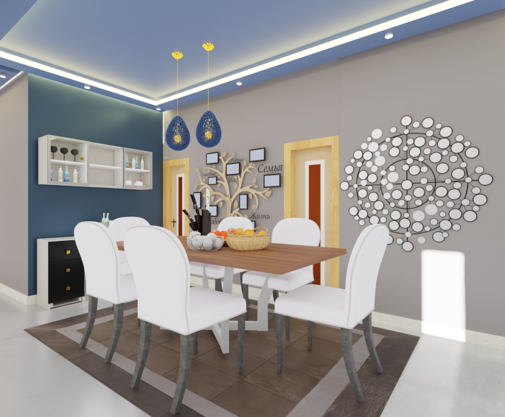 Dinning area by livspace and ThemeINDIA