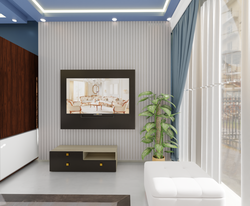 Living room by livspace and ThemeINDIA