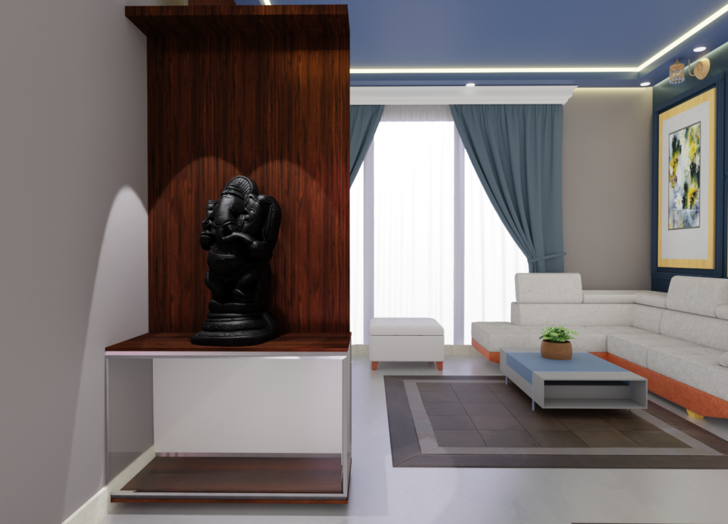 puja area by livspace and ThemeINDIA